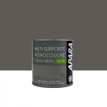 Peinture Apara multi-supports  Murs, plafonds, boiseries, plinthes...  gris souris satin 0,5L