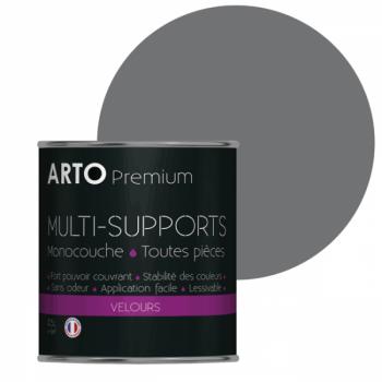 Peinture arto premium multi - supports murs, plafonds, boiseries, plinthes et radiateurs acier velours 0,5 L