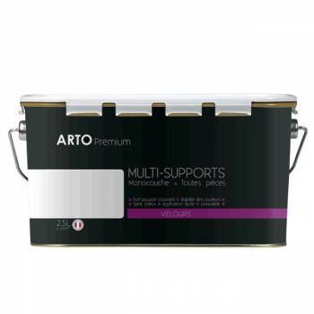 Peinture arto premium multi - supports murs, plafonds, boiseries, plinthes et radiateurs blanc velours 2,5 L
