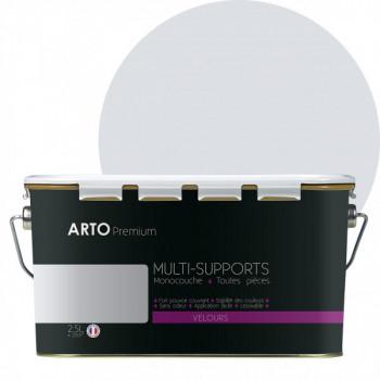 Peinture arto premium multi - supports murs, plafonds, boiseries, plinthes et radiateurs gris lunaire velours 2,5 L