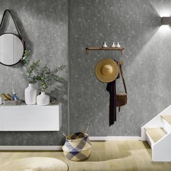 Papier peint intissé lessivable texturé gris