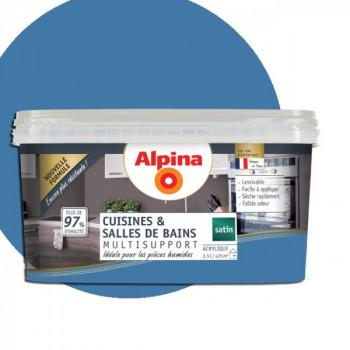 Peinture alpina cuisine & salle de bain cyclades satin  2,5L