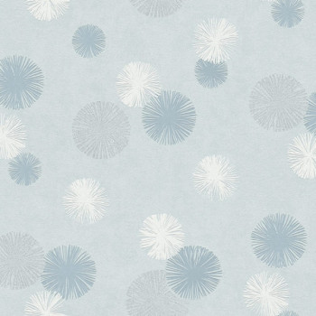 Papier peint intissé lessivable Pissenlit bleu
