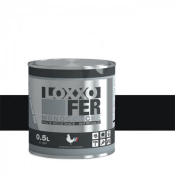 Peinture monocouche LOXXO spéciale fer noir brillant 0.5L