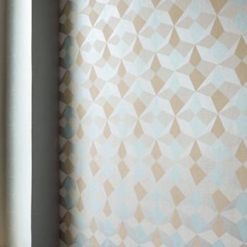 Papier peint intissé lessivable Origami bleu