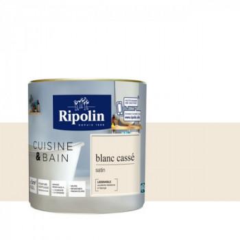 Peinture Ripolin multi-supports Cuisine & bain beige satin 0,5L