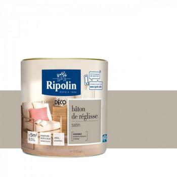 Peinture Ripolin Esprit Déco Murs, plafonds, boiseries et radiateurs bâton de réglisse satin 0,5L
