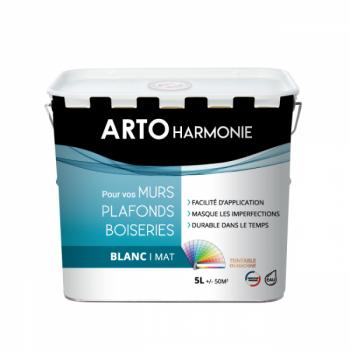 Peinture Arto Harmonie Murs, plafonds et boiserie intérieur blanc mat 5L