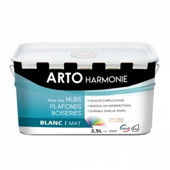 Peinture Arto Harmonie Murs, plafonds et boiserie intérieur blanc mat 2,5L