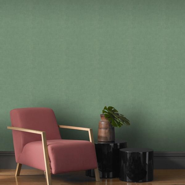 Papier peint intissé lessivable Vert