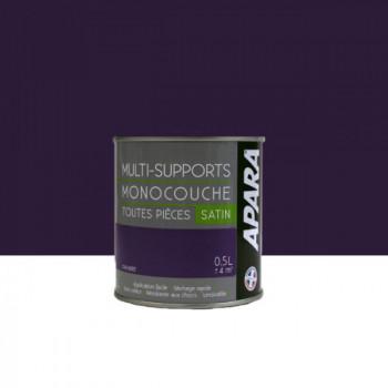 Peinture Apara multi-supports  Murs, plafonds, boiseries, plinthes...  violet orchidée satin 0,5L