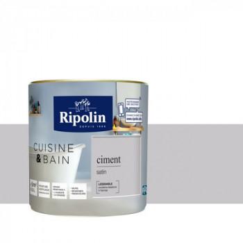 Peinture RIPOLIN cuisine & bain satin ciment