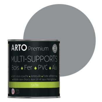 Peinture Arto Premium multi-supports gris trafic satin 0,5L