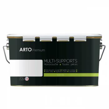 Peinture arto premium multi - supports murs, plafonds, boiseries, plinthes et radiateurs blanc satin  2,5 L