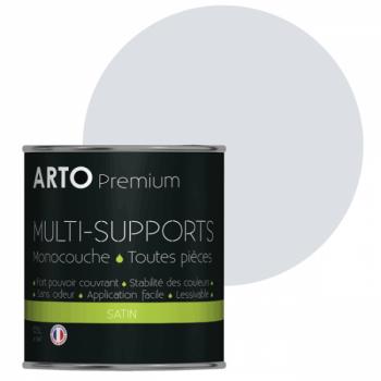 Peinture arto premium multi-supports murs, plafonds, boiseries, plinthes et radiateurs gris lunaire satin 0,5 L