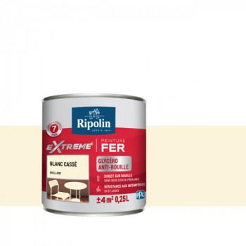 Peinture Ripolin extreme fer glycero blanc cassé brillant 0,25 L