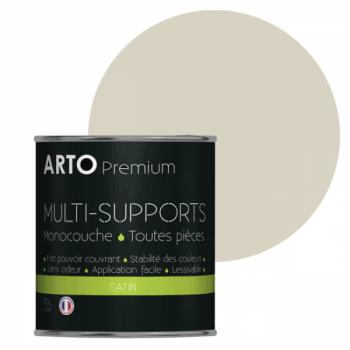 Peinture arto premium multi-supports murs, plafonds, boiseries, plinthes et radiateurs neige satin 0,5 L
