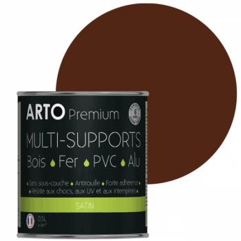 Peinture Arto Premium multi-supports ton bois satin 0,5L