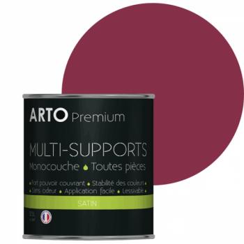 Peinture arto premium multi-supports murs, plafonds, boiseries, plinthes et radiateurs rose kiss satin 0,5 L