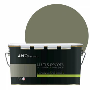 Peinture arto premium multi - supports murs, plafonds, boiseries, plinthes et radiateurs vert laurier satin  2,5 L