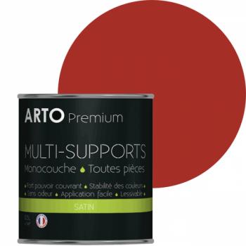 Peinture arto premium multi-supports murs, plafonds, boiseries, plinthes et radiateurs orange chili satin 0,5 L