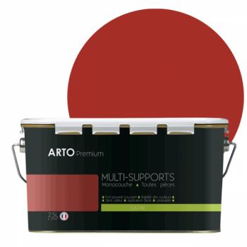 Peinture arto premium multi - supports murs, plafonds, boiseries, plinthes et radiateurs orange chili satin  2,5 L