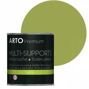 Peinture Arto Premium multi-supports murs, plafonds, boiseries, plinthes et radiateurs Vert Tropical satin 0,5L