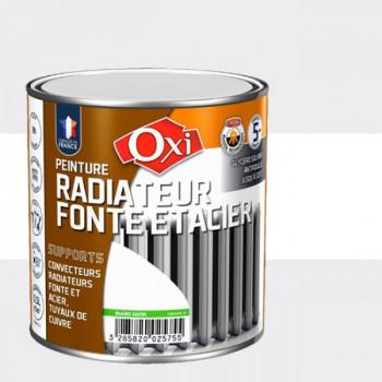 Peinture OXITOL spéciale radiateur fonte et acier blanc satin 0.5 L