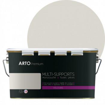 Peinture arto premium multi - supports murs, plafonds, boiseries, plinthes et radiateurs blanc minéral velours 2,5 L