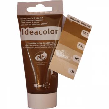 Colorant Idéacolor ultra concentré terre d'ocre 50 ml