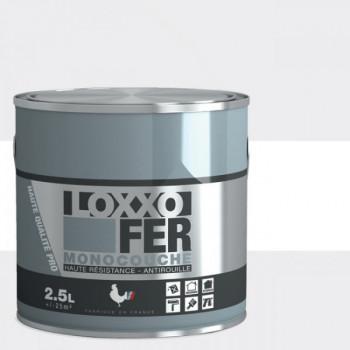 Peinture monocouche LOXXO spéciale fer blanc brillant 2.5L