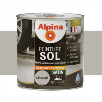 Peinture alpina spéciale sol gris satin 0,5L