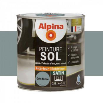 Peinture alpina spéciale sol gris clair satin 0,5L