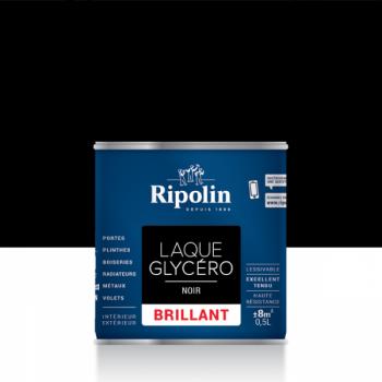 Laque glycéro ripolin multi-supports noir brillant 0,5L