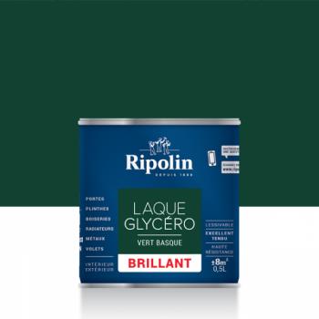 Laque glycéro ripolin multi-supports vert basque brillant 0,5L
