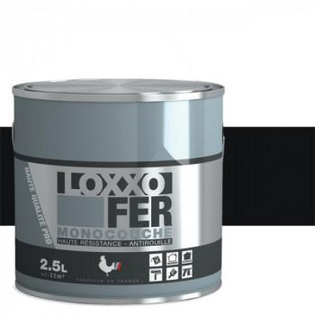 Peinture monocouche LOXXO spéciale fer noir brillant 2.5 L