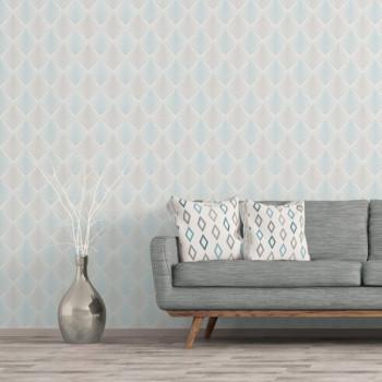 Papier peint intissé lessivable paillettes gris ciel