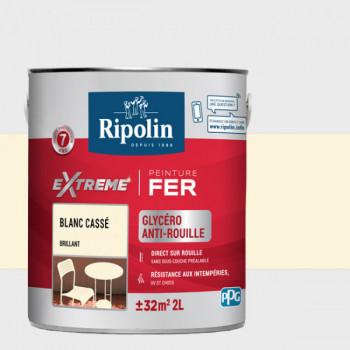 Peinture Ripolin extreme fer glycero blanc cassé brillant 2 L