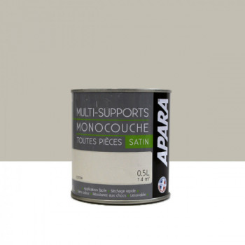 Peinture Apara multi-supports  Murs, plafonds, boiseries, plinthes...  beige coton satin 0,5L