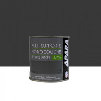 Peinture Apara multi-supports  Murs, plafonds, boiseries, plinthes...  gris vautour satin 0,5L