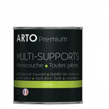 Peinture arto premium multi-supports murs, plafonds, boiseries, plinthes et radiateurs blanc satin 0,5 L