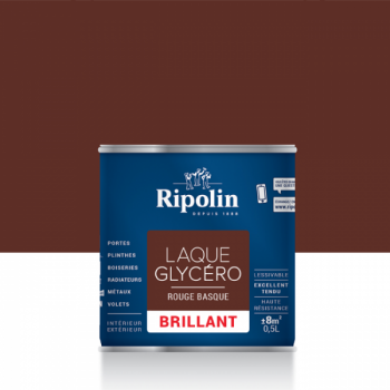 Laque glycéro ripolin multi-supports rouge basque brillant 0,5L