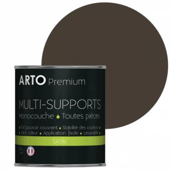 Peinture arto premium multi-supports murs, plafonds, boiseries, plinthes et radiateurs terre sauvage satin 0,5 L