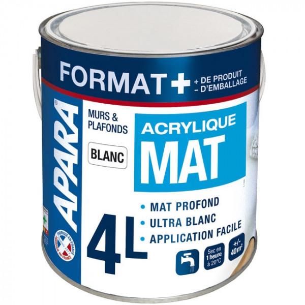 Peinture murs et plafonds mat Format...