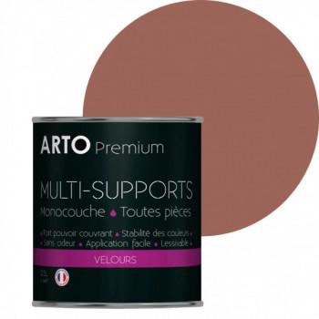 Peinture arto premium multi - supports murs, plafonds, boiseries, plinthes et radiateurs bouton de rose velours 0,5 L