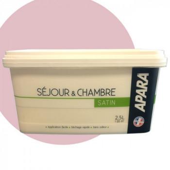 Peinture couleurs séjours et chambres rose jacinthe satin 2,5L