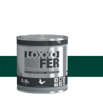 Peinture monocouche LOXXO spéciale fer vert basque brillant 0.5L