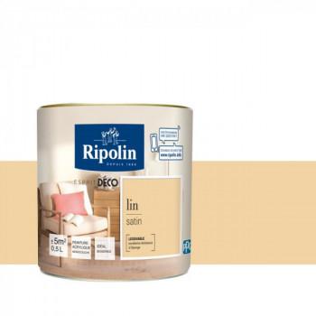 Peinture Ripolin Esprit Déco Murs, plafonds, boiseries et radiateurs lin satin 0,5L