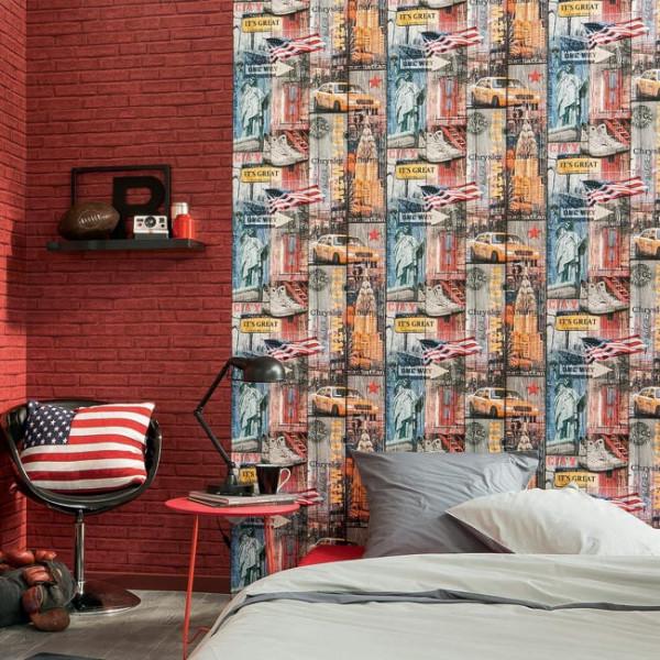 Papier peint décor USA