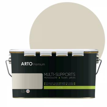 Peinture arto premium multi - supports murs, plafonds, boiseries, plinthes et radiateurs neige satin 2,5 L